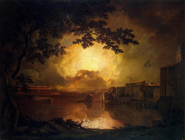 Wright of Derby Joseph - Firework Display at the Castel Sant Angelo in Rome La Girandola
