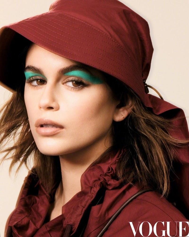 Kaia Jordan Gerber Featured in Vogue Magazine - China December 2020