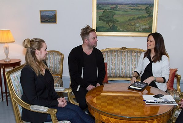 Princess Sofia Hellqvist of Sweden held a meeting with Marten Schultz, law professor of Stockholm University and Angla Eklund, Law Institute CEO at the Royal Palace. Sofia Hellqvist