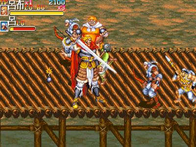 街機:三國志2-火鳳凰,可選呂布及夏侯惇的吞食天地2:赤壁之戰!