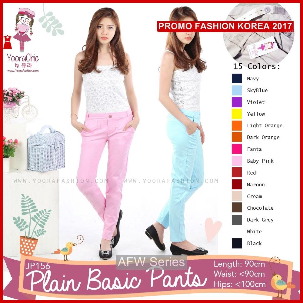 BAMFGW092 Plain Pants Celana Wanita PROMO BMG