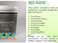 Deco Plaster, Bahan Cat Dekoratif Multifungsi