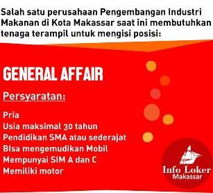 Lowongan Kerja General Affair di Makassar