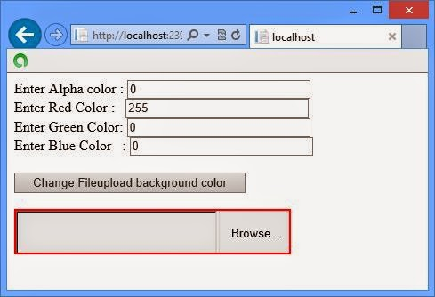 Programmatically change border color of fileupload control in ASP.NET