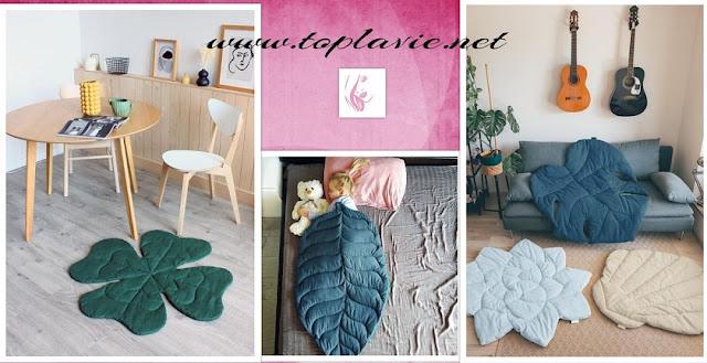 خياطة لحاف على شكل اوراق الشجر - Leaf mat DIY