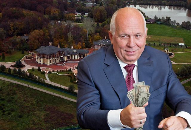 Цена недвижимости семейства С. Чемезова на Рублево-Успенском шоссе достигает 4 миллиардов рублей