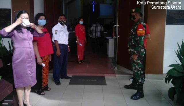 Jalin Silaturahmi, Personel Jajaran Kodim 0207/Simalungun Laksanakan Komunikasi Sosial Dengan Manazer Plaza