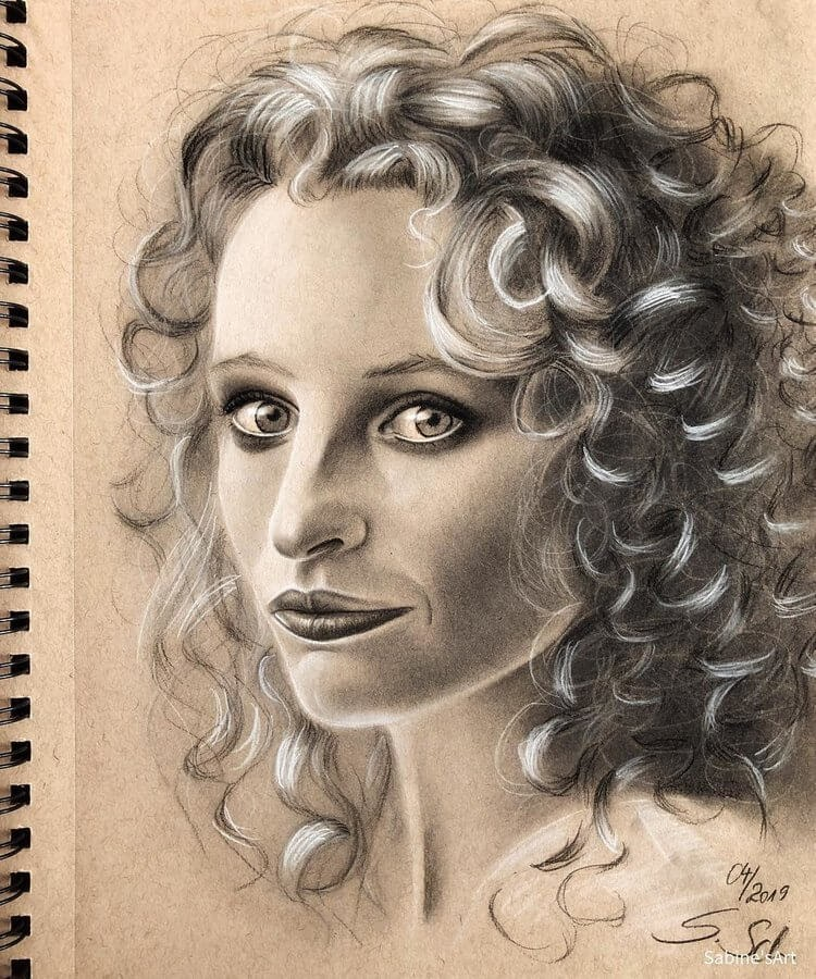 10-Maggie-Sabine-S-Charcoal-Portraits-Realistic-Drawings-www-designstack-co