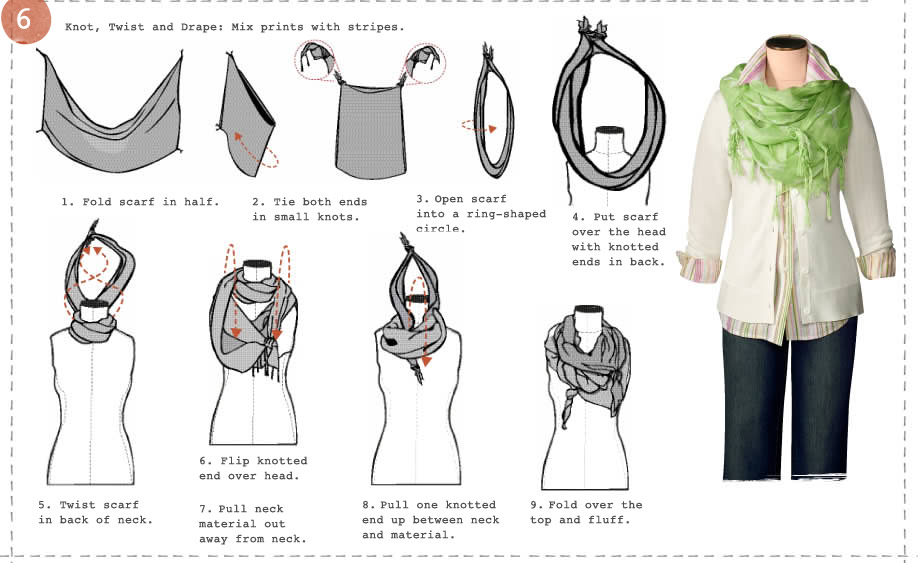 Its Written On The Wall Tutorial 6 Fabulous Ways To Tie A Scarf