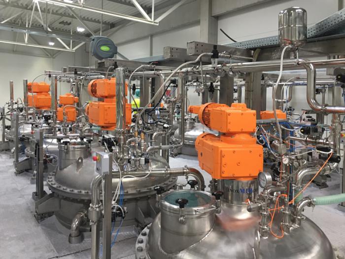 Reactores intermitentes o batch utilizados en la industria farmacéutica