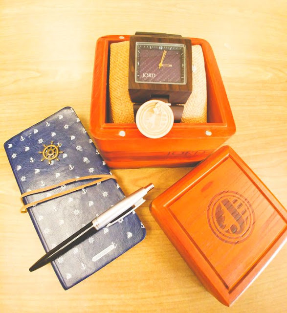 Jord engravable wood watch and notebook