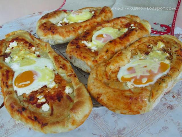 Цървулки със сирене и яйце