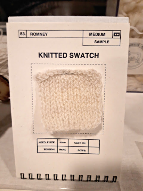 Knitted swatch from designers' toolkit - The Woolist talk - Theatr Clwyd Sept 2019