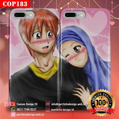 Gambar kartun vektor pernikahan islami menikah muslimah COP183