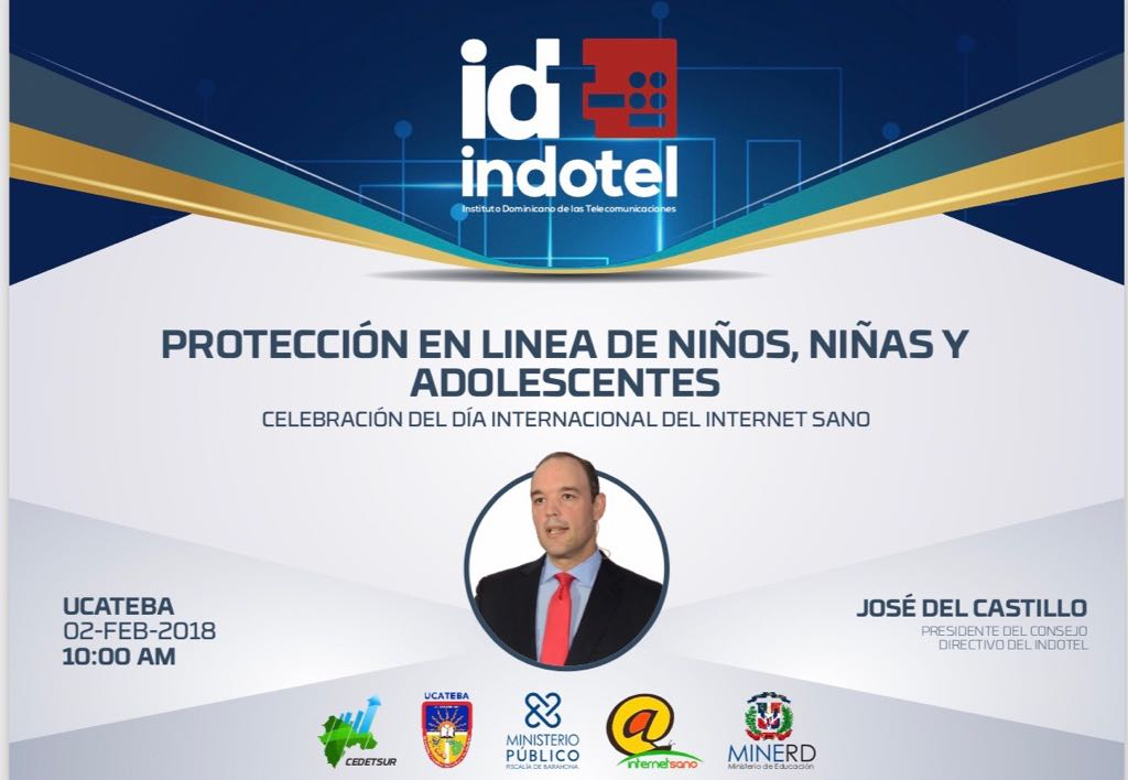 """Del Castillo Saviñón dicta conferencia en Barahona    sobre protección en línea el Día de la """"Internet Segura 2018"""""""