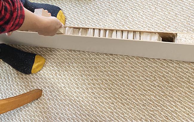 inside of ikea table