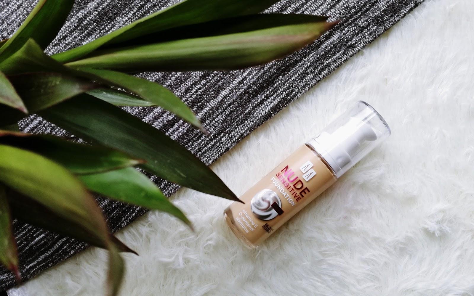AA, Nude Sensitive • podkład nawilżająco-łagodzący (#01 Cream)