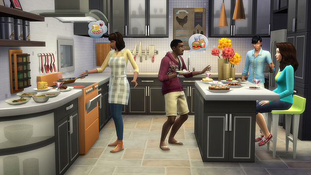 sims 4 cool kitchen