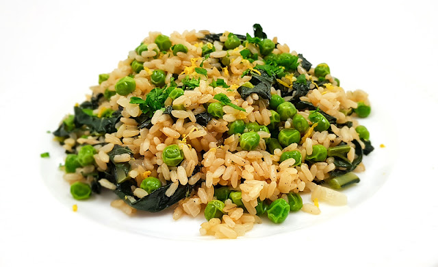 Risoto with kale and peas