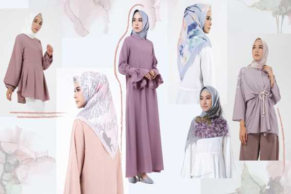 Warna Jilbab Yang Cocok Untuk Baju Warna Dusty Ungu