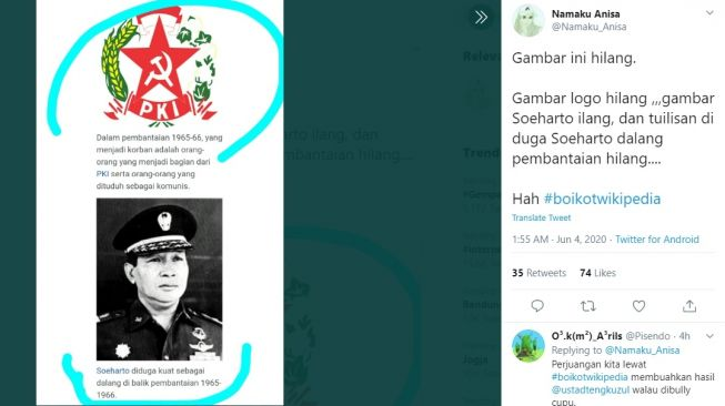 #BoikotWikipedia Trending, Informasi Keliru G30S/PKI Bikin Warganet Geram