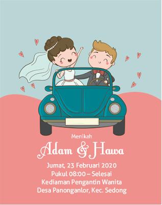 contoh undangan pernikahan unik dan lucu