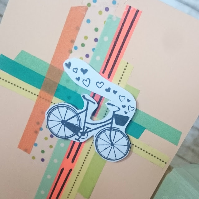 [DIY] Sonnige Frühlingsgrüße: Fröhliche Washi-Tape-Fahrrad Grußkarte