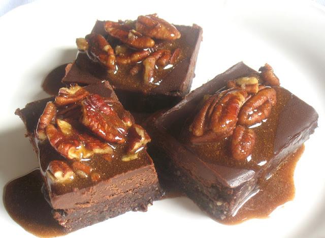 raw gingerbread brownies