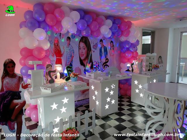 Mesa temática Violetta - Festa infantil