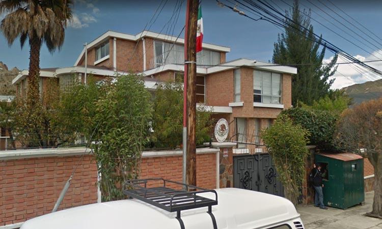Embajada de México en la zona sur de La Paz / GOOGLE MAPS