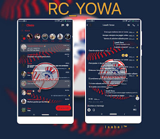Yankees Theme For RCWhatsApp & YOWhatsApp