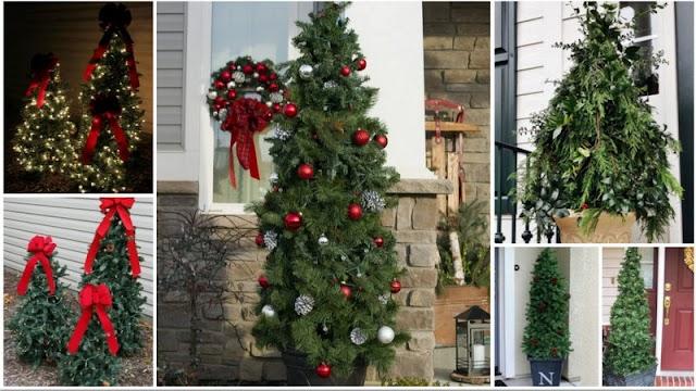 DIY Εύκολα Χριστουγεννιάτικα Δέντρα για το Μπαλκόνι ή τον Κήπο σας