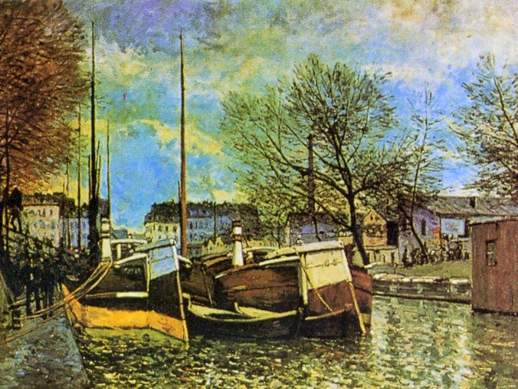 O Canal Saint-Martin em Paris - Alfred Sisley ~ Um dos mais representativos paisagistas do impressionismo