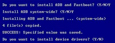 تثبيت اداة ADB and fastboot