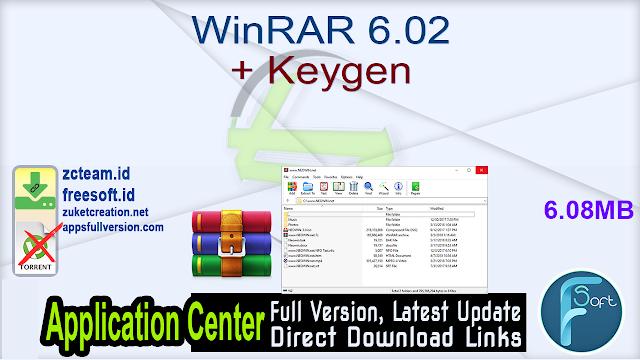 WinRAR 6.02 + Keygen_ ZcTeam.id