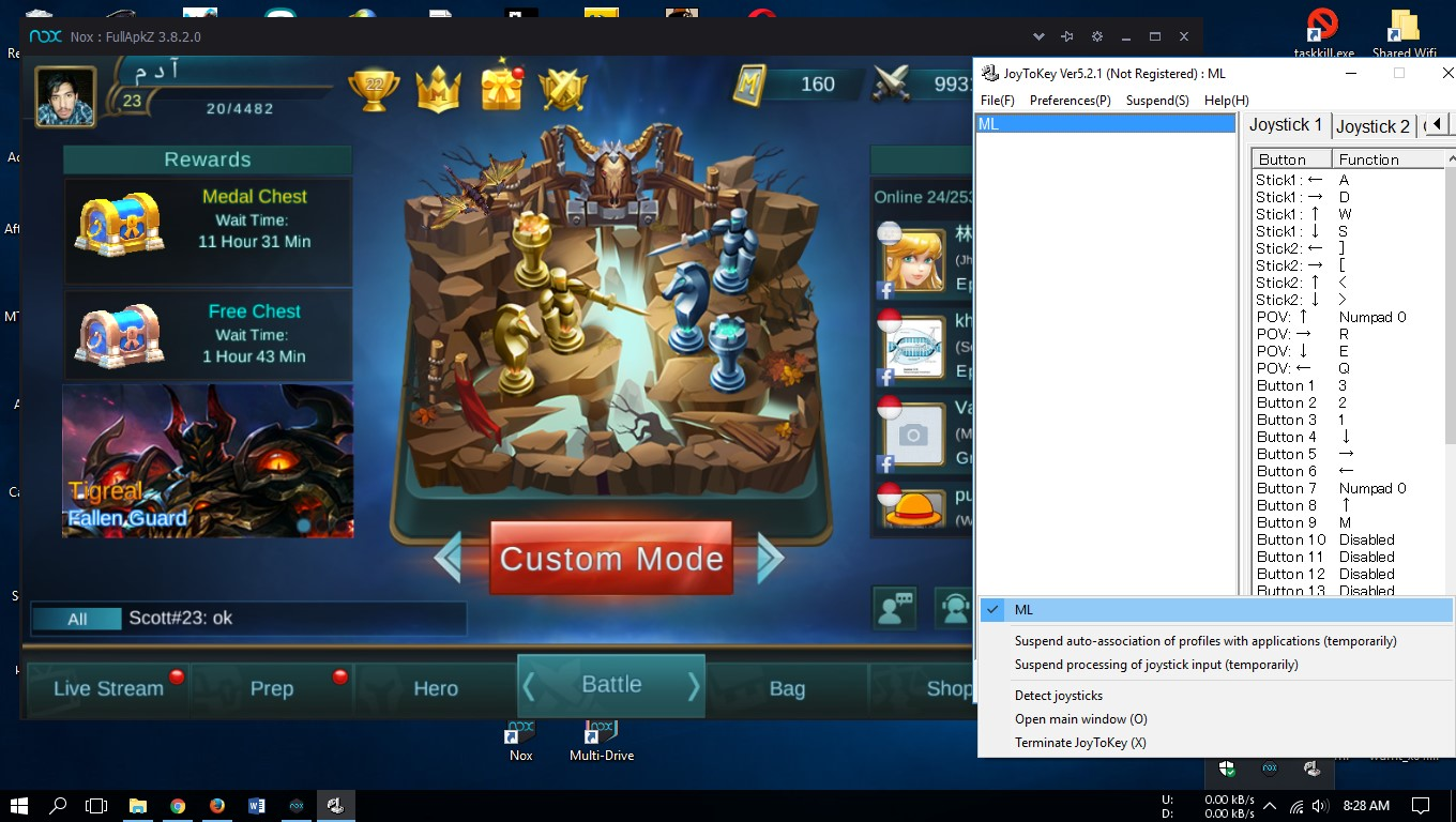 how to play mobile legends with joystick on pc mobile games tutorial