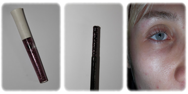 Swatch Mascara Pailleté Teinte Plum - elf
