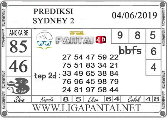 """Prediksi Togel """"SYDNEY 2"""" PANTAI4D 04 JUNI 2019"""