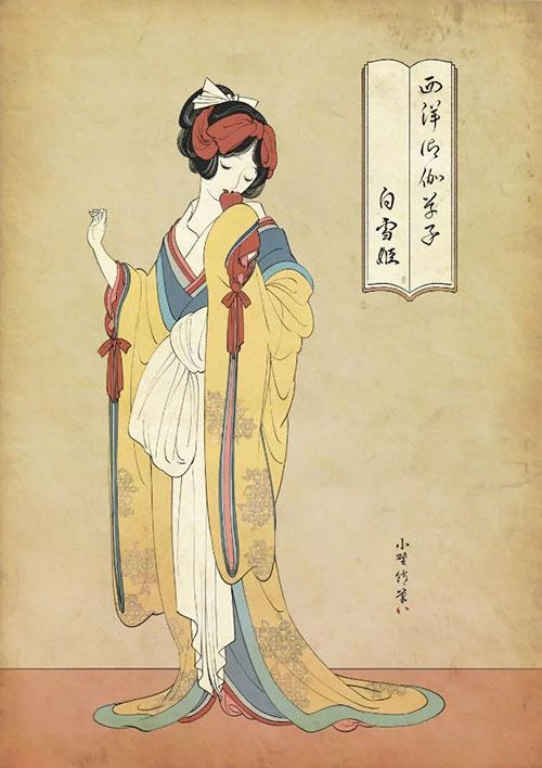Las princesas Disney japonesas del ilustrador Ono Tako