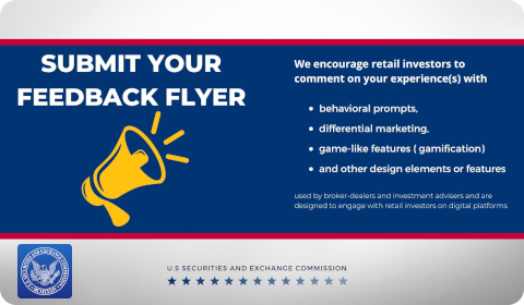 SEC – Submit your feedback flyer