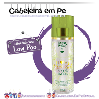 Spray Love Potion I Love Babosa SOS em Gel