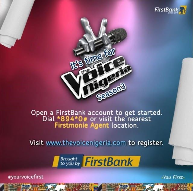 FIRSTBANK LEADS SPONSORSHIP OF THE VOICE NIGERIA, PARTNERS UN1TY NIGERIA