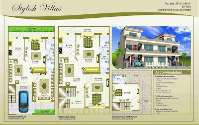 25 Gaj Makan Ka Naksha (25 Gaj House Map Design)   25 गज मकान का नक्शा - 2