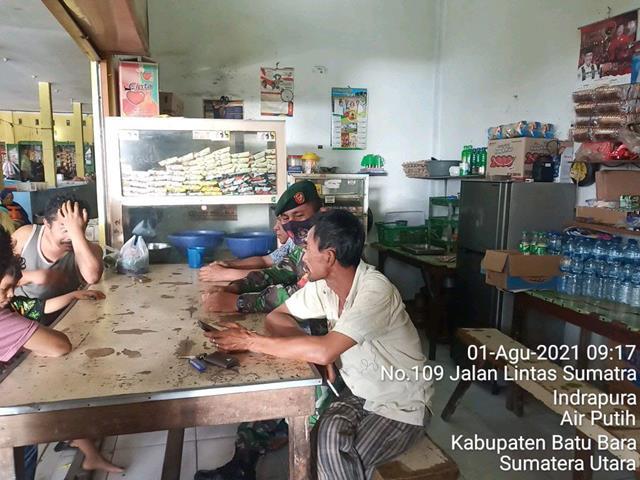 Bina Silaturahmi Yang Baik Dengan Warga Binaan, Personel Jajaran Kodim 0208/Asahan Laksanakan Komunikasi Sosial