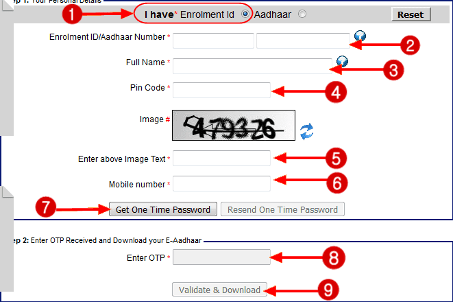 how to download aadhaar