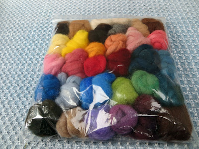 Gotta Love Beautifully Hand-Dyed Alpaca Roving Multi Color Blender Packs From Rock Garden Alpacas