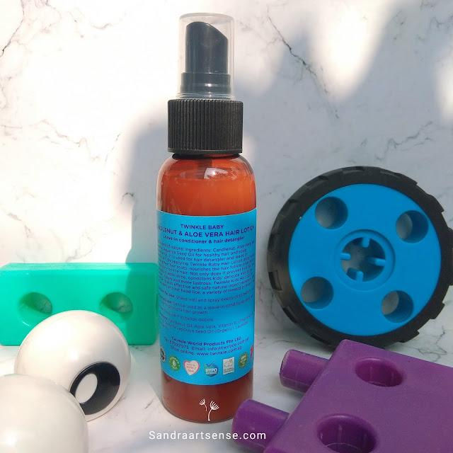 Review Twinkle Baby Detangler Hair Lotion  Lavender