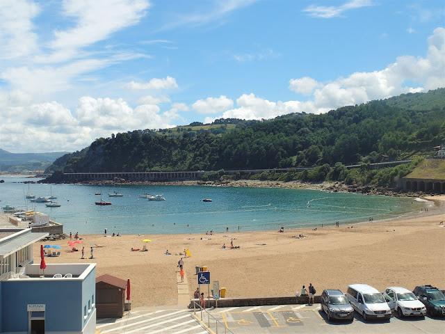 fin strand i Baskien - Getaria