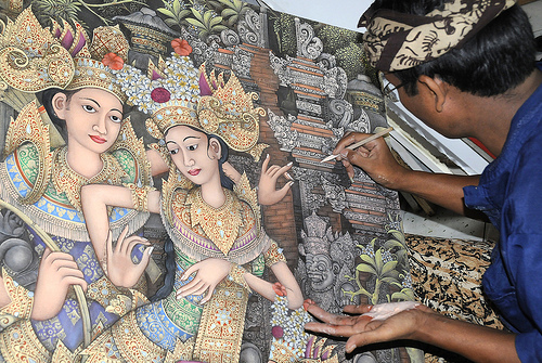 Batuan Art Painting - Kintamani Bali Volcano Tour - Bali Tourist Attractions