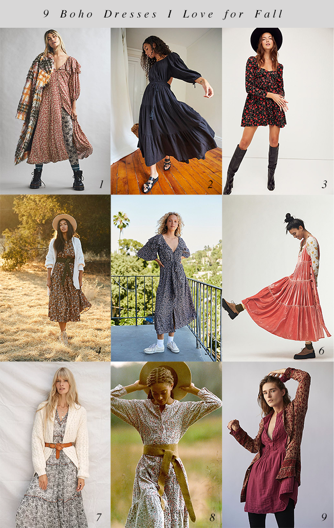 9 Boho Dresses I Love for Fall